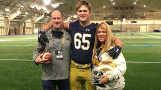 "2019 In-State OL Calls Notre Dame ""An Awesome Place"""