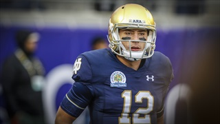 Instant Reaction   Book in for Wimbush as QB1 for Notre Dame