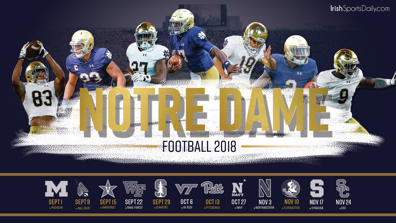 2018 notre dame football schedule desktop background - Notre dame football wallpaper ...