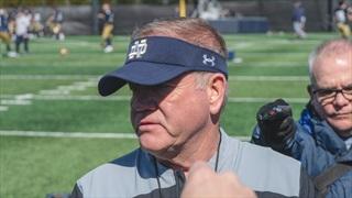 Video | Notre Dame Coach Brian Kelly Talks Quarterbacks & Receivers