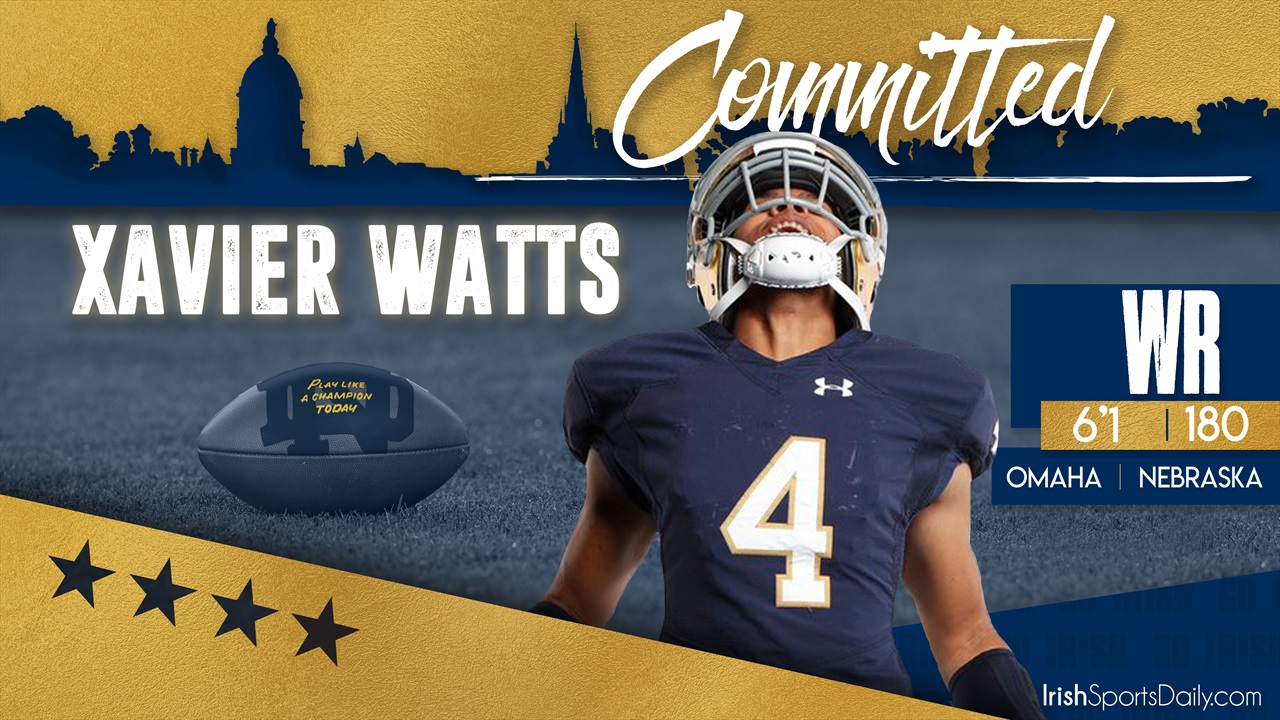 2020 Notre Dame Football Schedule.Breaking 2020 Four Star Wr Xavier Watts Commits To Notre