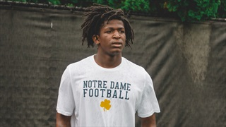 Notre Dame Camp Motivated 2021 DE Rodney McGraw