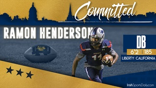 BREAKING | 2020 CB Ramon Henderson Commits To Notre Dame