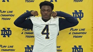 "2021 DT Doran Ray Enjoys ""Great"" Notre Dame Visit, Wants To Return"