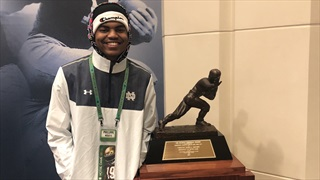 2021 WR Phillippe Wesley Enjoys First Look At Notre Dame