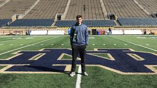 2022 QB Holden Geriner Impressed At Notre Dame, Will Return For Camp
