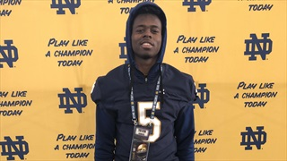 2022 DB Trevon Howard Learns About Notre Dame, Plans To Learn More
