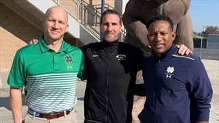 Notre Dame Busy in California on Monday