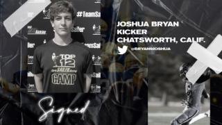 Signed | Top Kicker Joshua Bryan