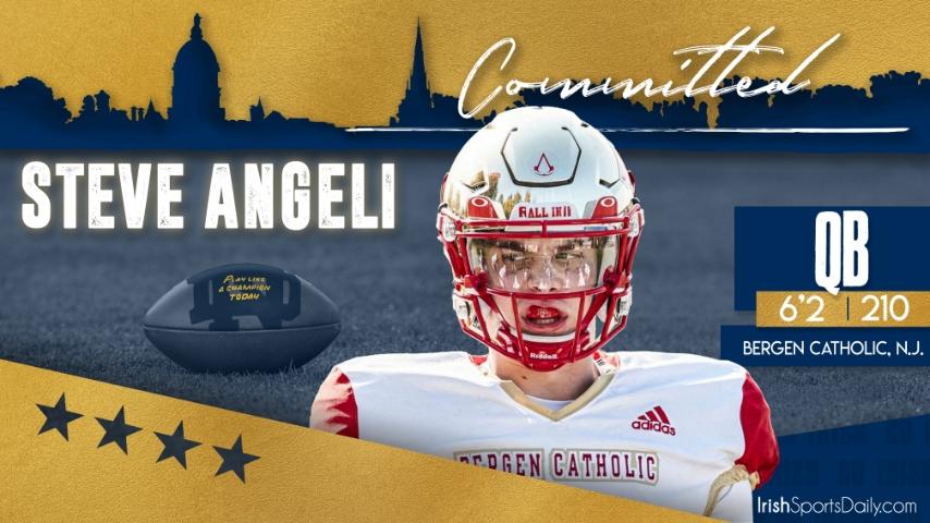 BREAKING   Notre Dame Lands Commitment from 2022 QB Steve Angeli