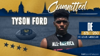 BREAKING | 2022 DE Tyson Ford Commits To Notre Dame