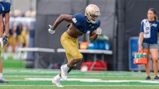 Inside Notre Dame Stadium, Irish skill players shine