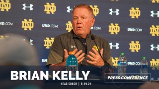 Video | Brian Kelly Discusses Notre Dame OL, WRs, Styles & Botelho