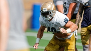 Notre Dame Football Practice Observations   8.19