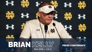 Video | Brian Kelly Discusses Young Receivers and Cornerbacks