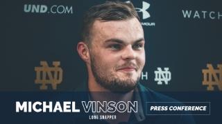 Video | Notre Dame LS Michael Vinson Post-Practice
