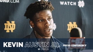 Video | Notre Dame WR Kevin Austin Jr. Ready for Sunday Night