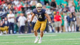 Notre Dame LB Jack Kiser Wants Defensive Improvement & Family Bragging Rights