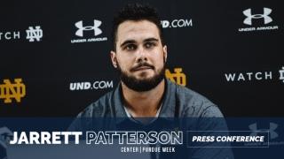 Video | Notre Dame Captain Jarrett Patterson Discusses OL